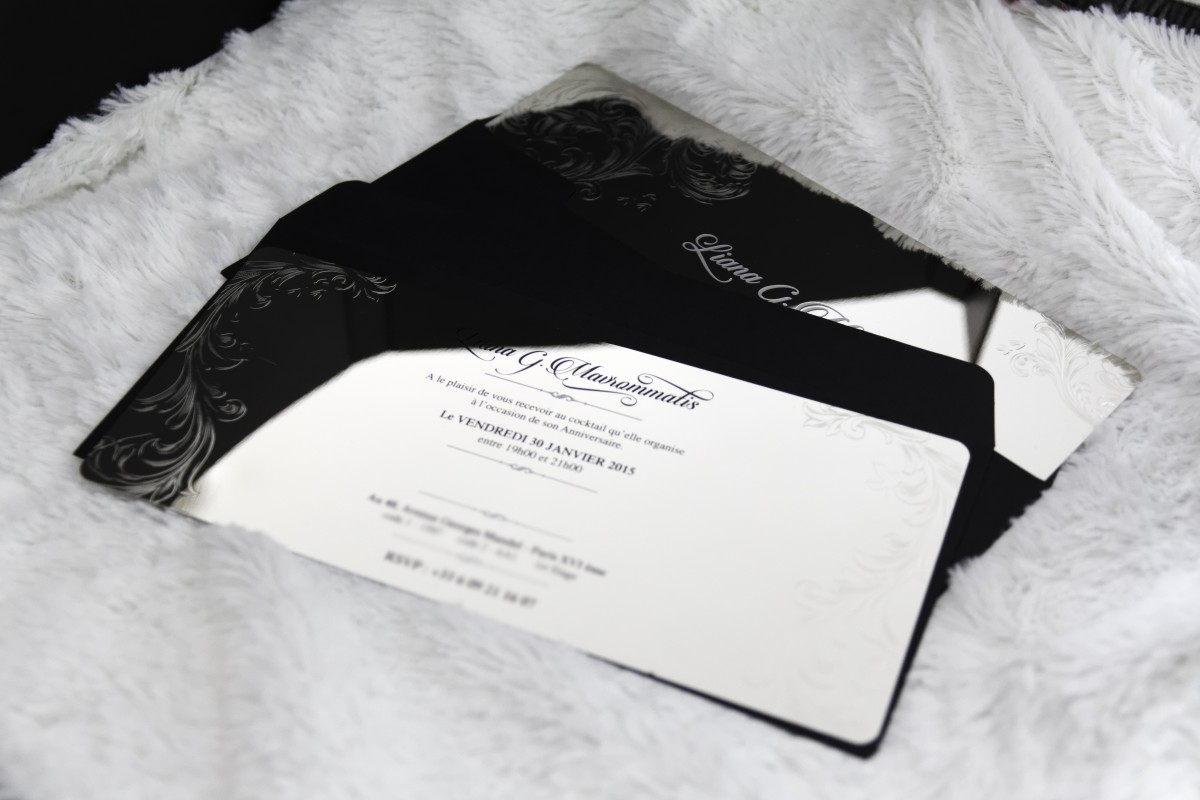 Metal Invitation Card
