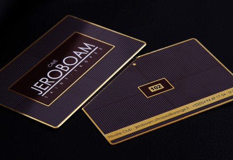 Gold Metal Member Card