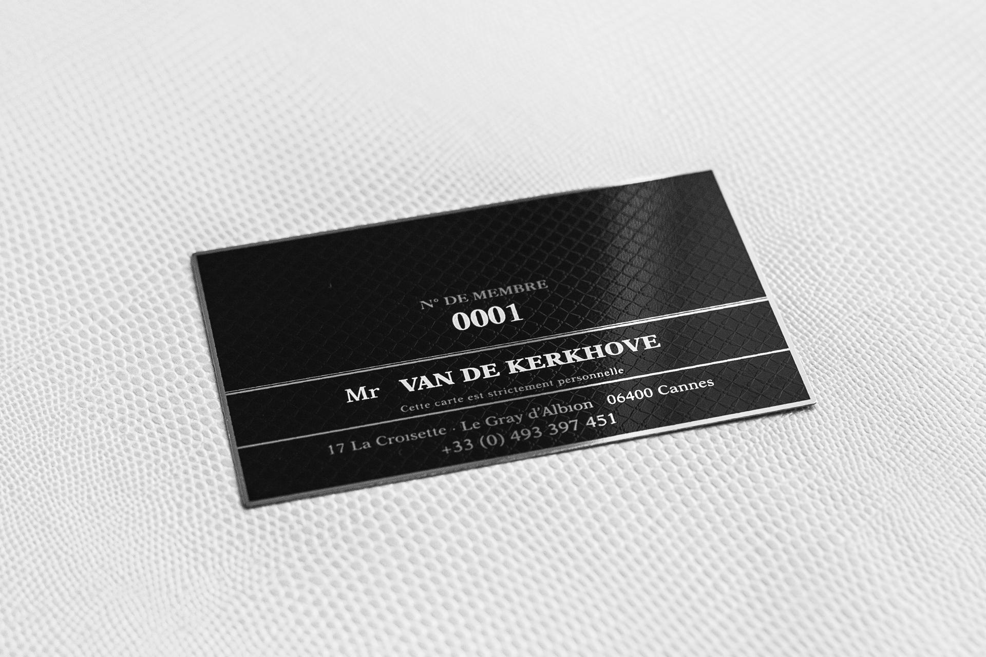 Carte De Visite Acier Noir