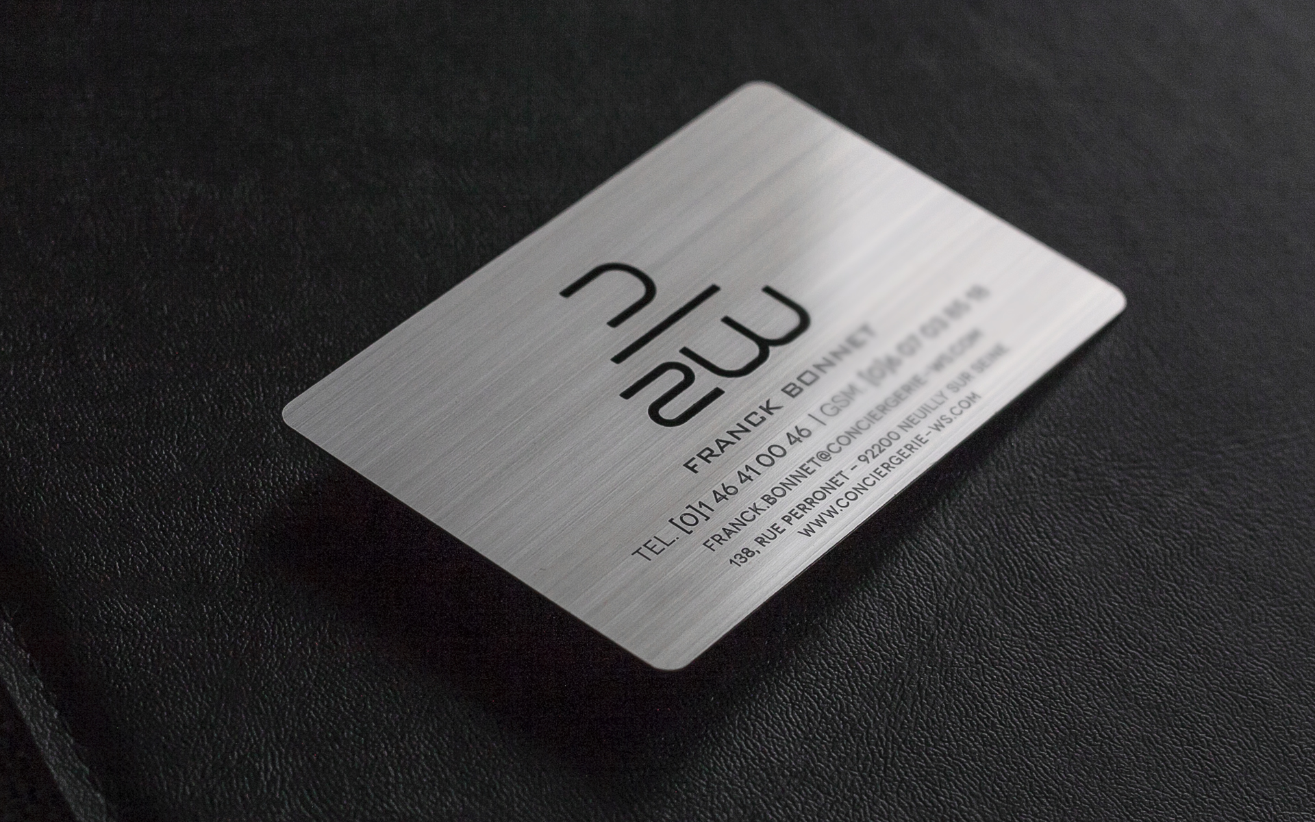 Brushed Metal Business Card | Impression de Luxe