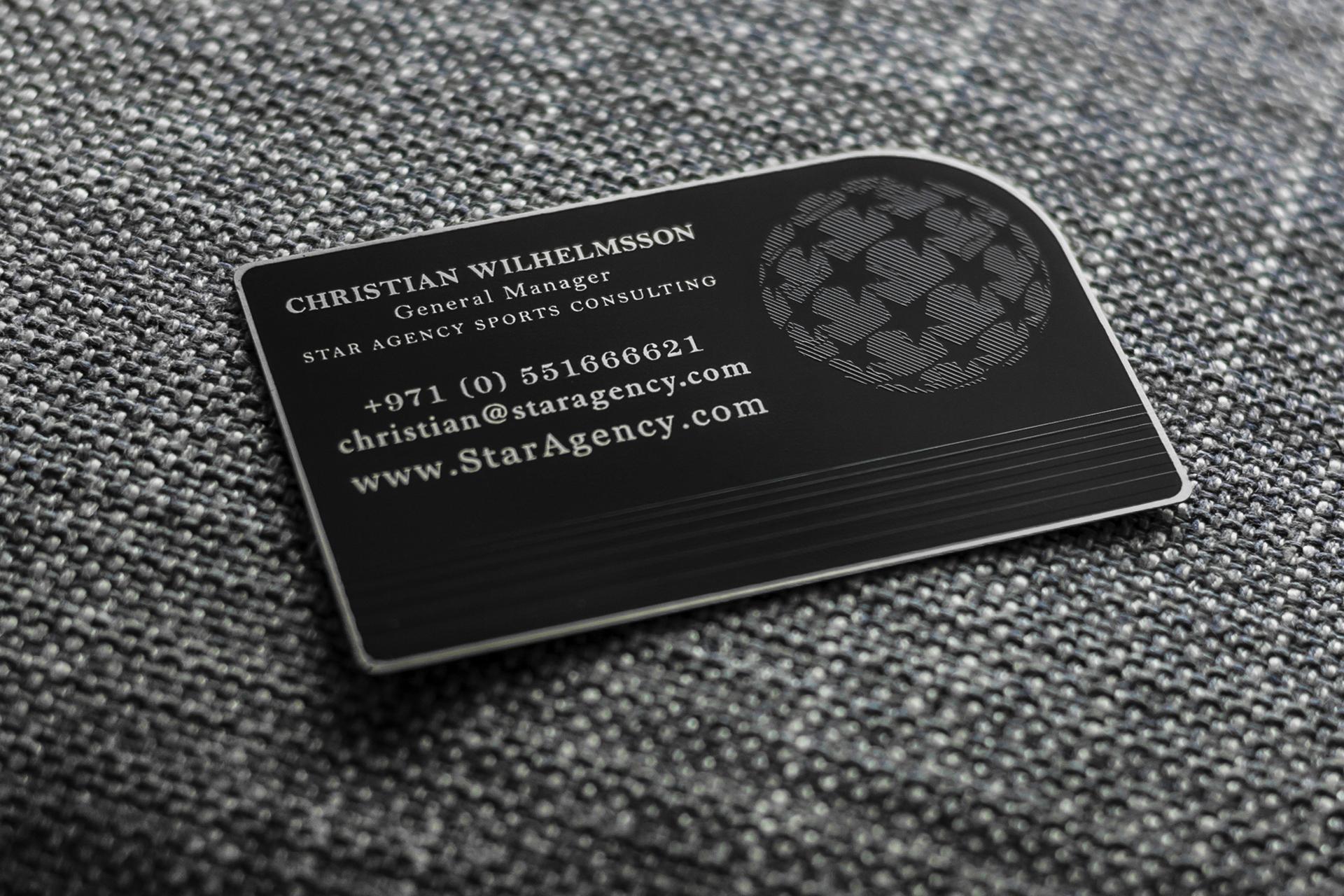 Carte De Visite Design En Metal