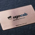 Rose Gold Metal Business Card