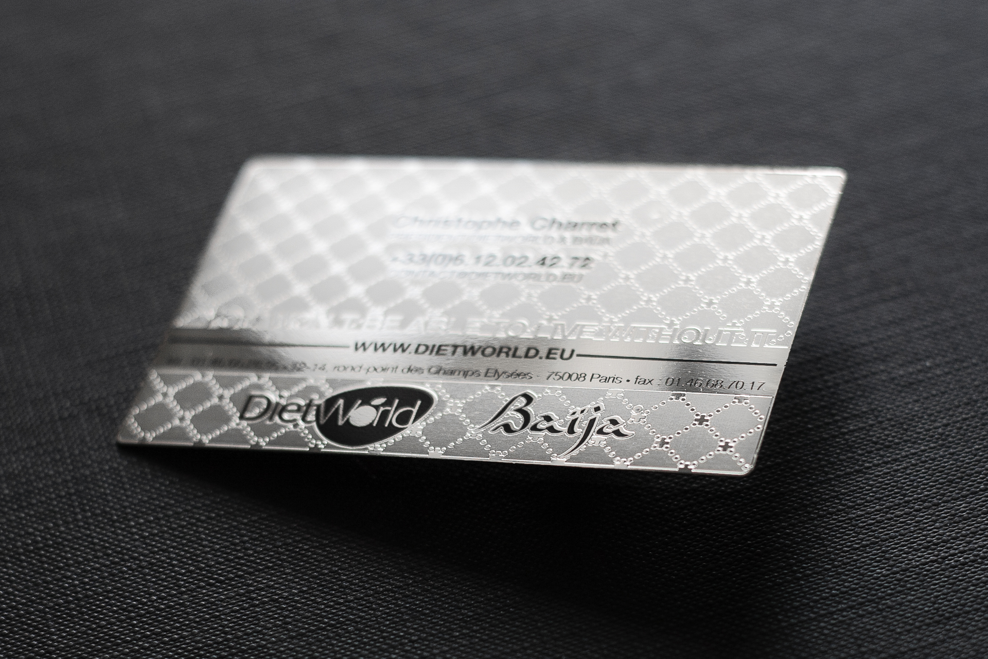Silver Metal Business Card | Impression de Luxe