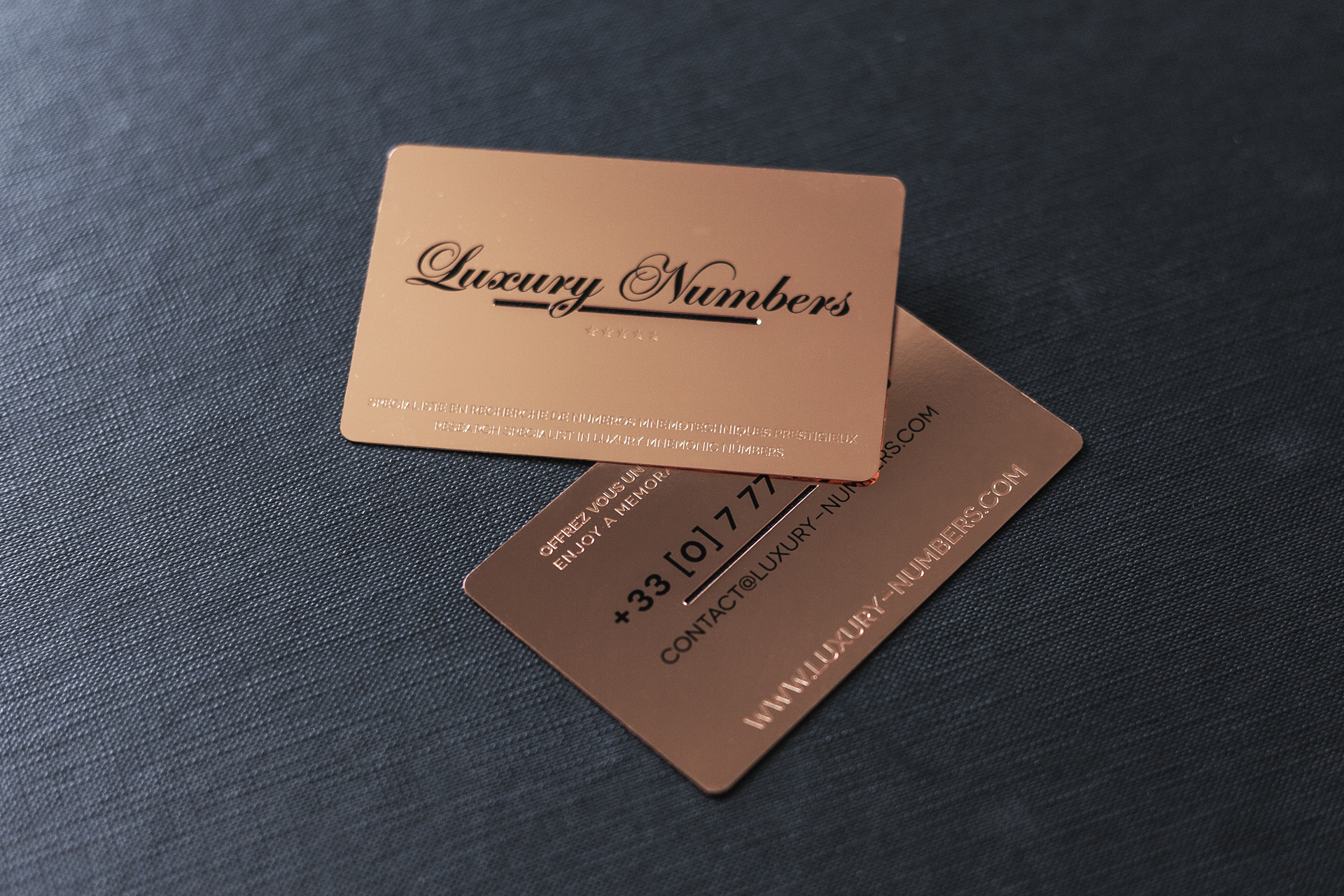 Business cards impression de luxe rose gold business card reheart Gallery