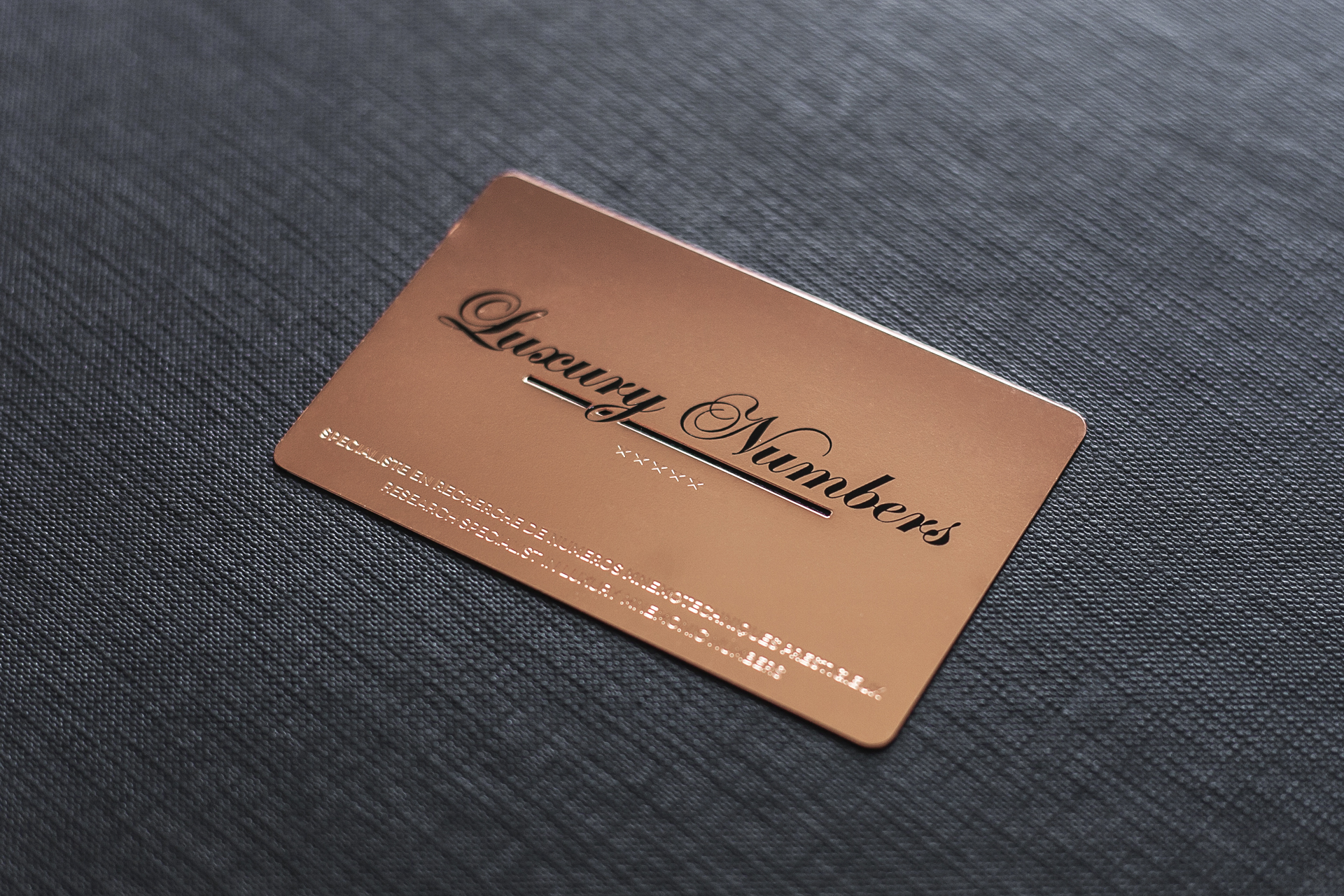 Project luxury numbers impression de luxe rose gold metal card magicingreecefo Images