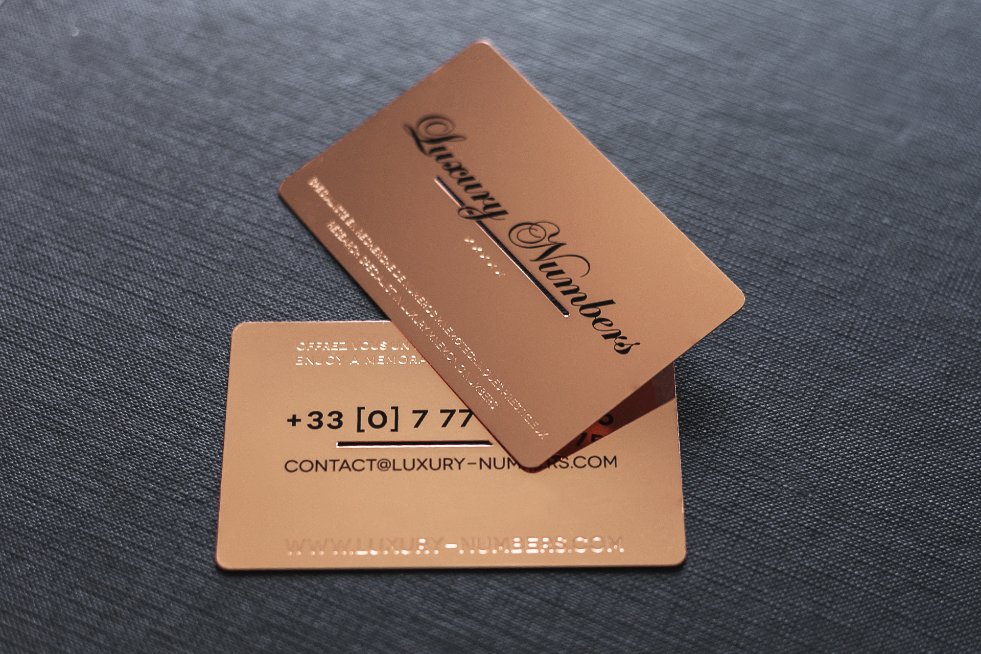 Project luxury numbers impression de luxe rose gold mirror metal card magicingreecefo Image collections